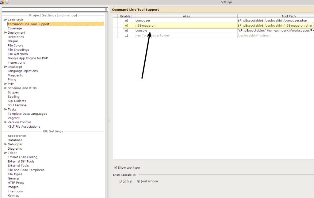 n98_magerun_phpstorm_commandline_tools
